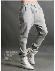 Pantalon Harem Style Casual gris