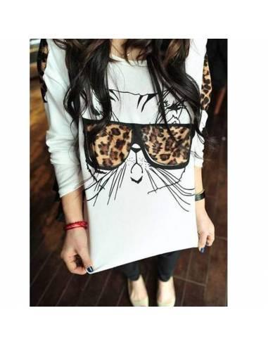Tee-Shirt Lovely Cats Léopoard