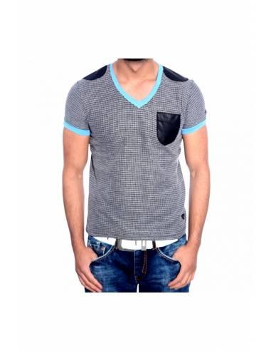 T-shirt homme à maille col V