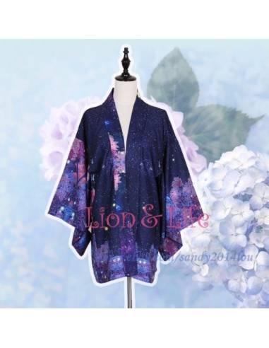 Kimono  japonais bleu nuit