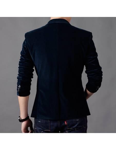 Blazer coréen style casual slim poche colorée