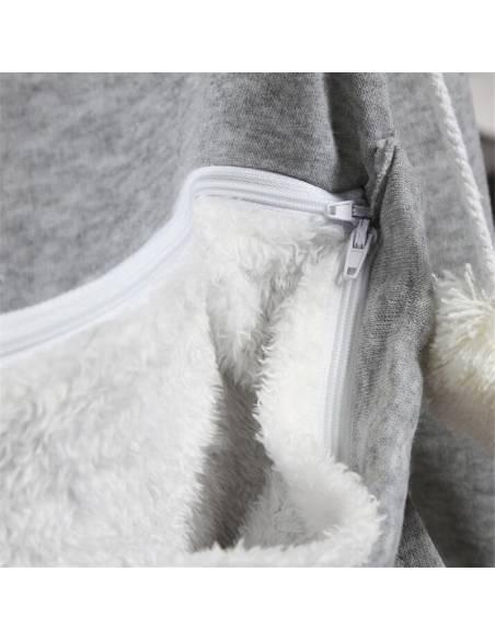 Sweat coréen capuche poche ventrale