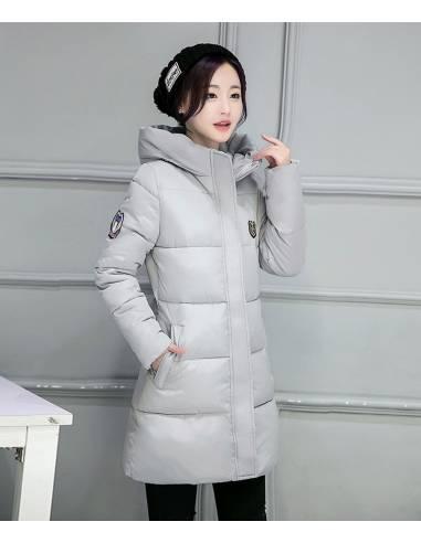 Doudoune longue coréenne avec capuche
