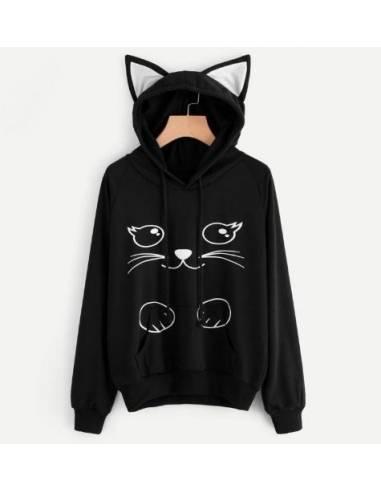 Sweat japonais capuche oreilles chat