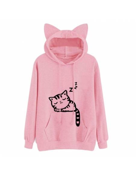 Sweat coréen capuche oreilles chat