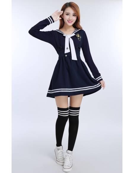 Ensemble 4 pièces uniforme sailor japonais