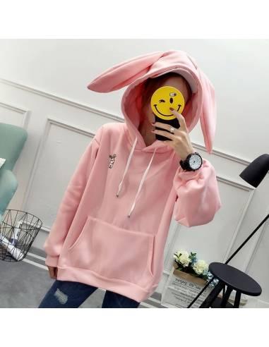Sweat coréen capuche oreilles lapin