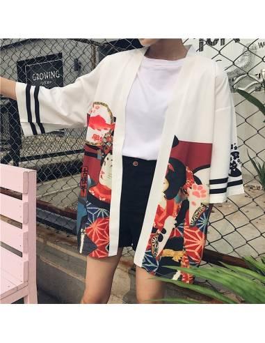 Kimono été carpe femme chat