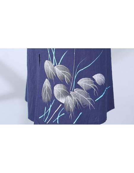 Robe été imprimé libellule fleurs