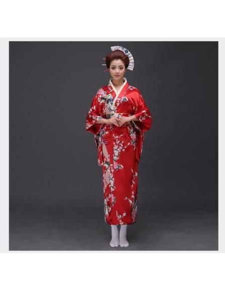 Kimono japonais oiseau fleurs