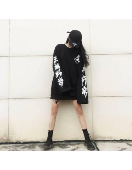 Sweat kanji japonais manches