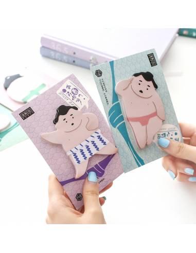 Papeterie japonaise coréenne - Bloc-notes sumo feuilles adhésives duo