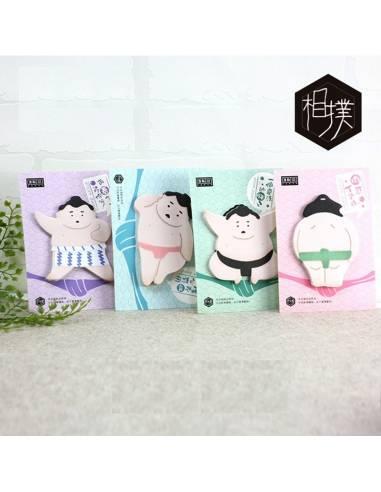 Papeterie japonaise coréenne - Bloc-notes sumo feuilles adhésives - vue ensemble