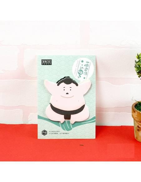 Papeterie japonaise coréenne - Bloc-notes sumo feuilles adhésives face