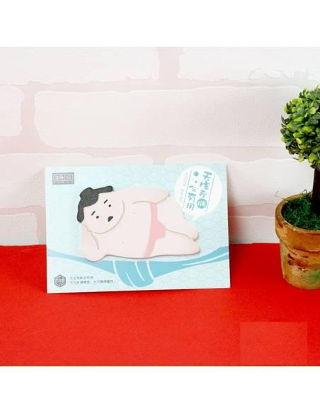 Papeterie japonaise coréenne - Bloc-notes sumo feuilles adhésives couché