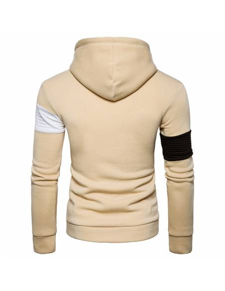 Vetement japonais coréen  - Sweat Hip Hop Slim Fit - beige dos