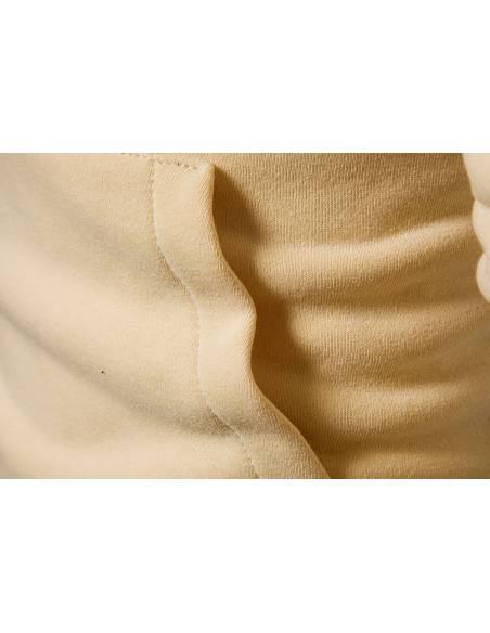 Vetement japonais coréen  - Sweat Hip Hop Slim Fit -  beige tissu