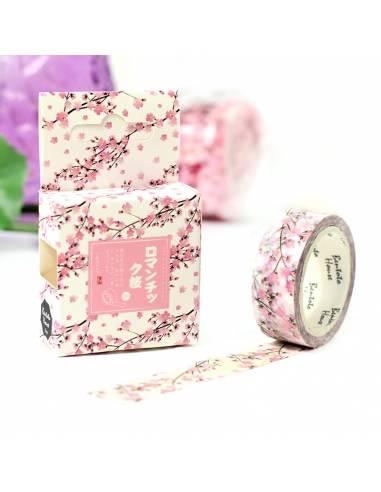 Papeterie japonaise coréenne - Rouleau Adhésif décoratif sakura