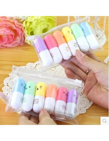 Stylo japonais coréen kawaii - Surligneur Mini Pilule - vue mains