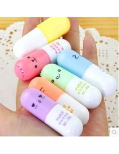 Stylo japonais coréen kawaii - Surligneur Mini Pilule - vue vrac