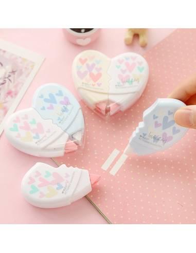 Papeterie japonaise coréenne - Correcteur bande forme Coeur démo