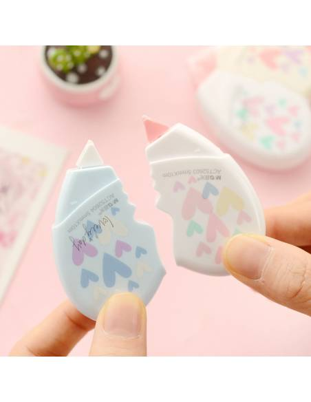 Papeterie japonaise coréenne - Correcteur bande forme Coeur - détaché