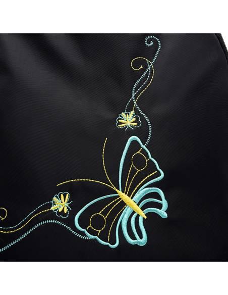 Sac japonais coréen - Sac à Dos Papillon noir - motif