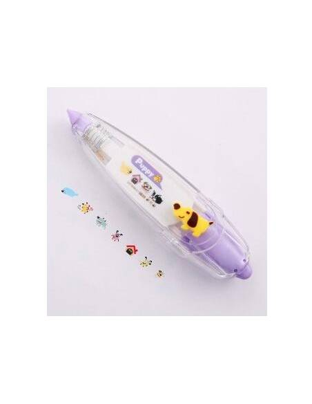 Papeterie japonaise coréenne - Rouleau Marqueur Kawaii Animaux - violet