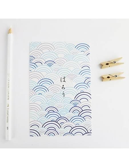 Papeterie japonaise - Carte postale japonaise Animaux - vague