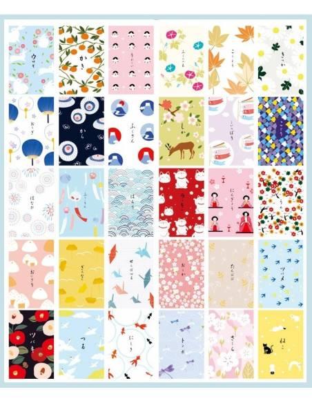 Papeterie japonaise - Carte postale japonaise Animaux - vrac