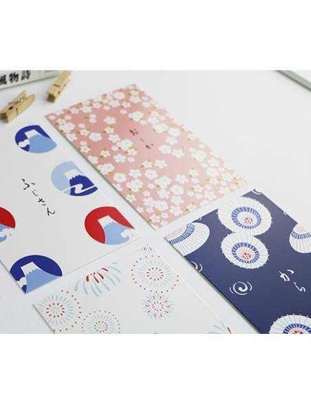 Papeterie japonaise - Carte postale japonaise Animaux - vue quatuor