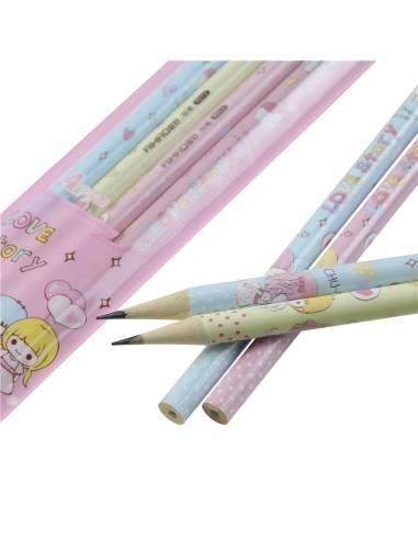 Papeterie japonaise - Crayon à papier kawaii frère et soeur - mines et crayons