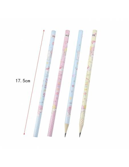 Papeterie japonaise - Crayon à papier kawaii frère et soeur - dessus