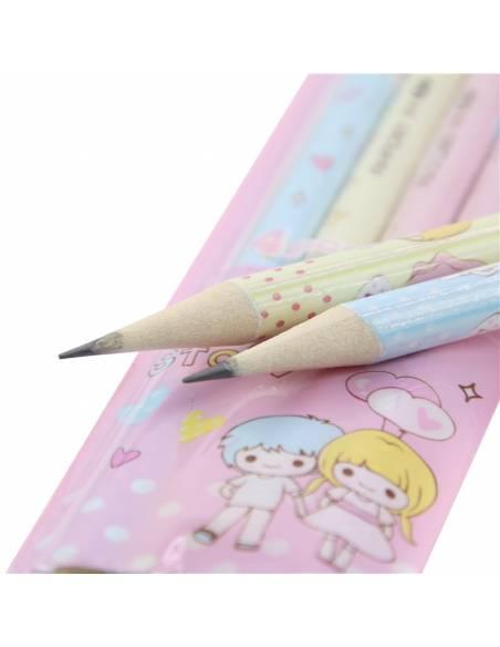 Papeterie japonaise - Crayon à papier kawaii frère et soeur - mines