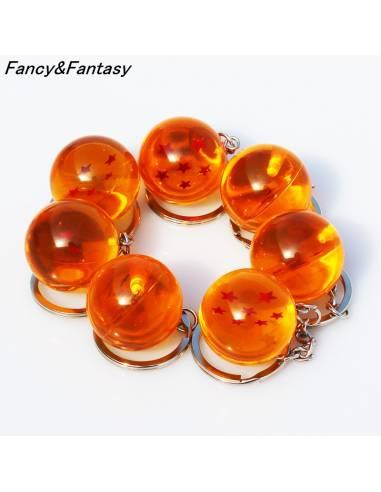 Manga japonais - Porte-clé Boule de Cristal Dragon Ball Super 1 à 7 étoiles - ensemble