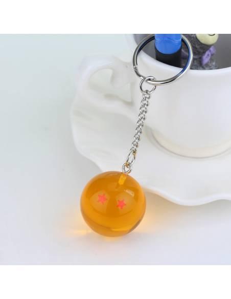 Manga japonais - Porte-clé Boule de Cristal Dragon Ball Super 2 étoiles -