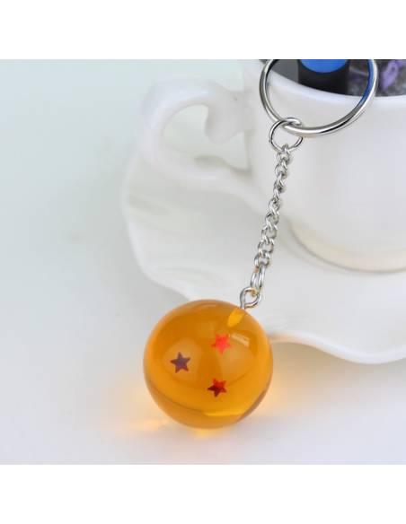 Manga japonais - Porte-clé Boule de Cristal Dragon Ball Super 3 étoiles
