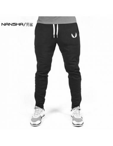 Pantalon japonais jogging noir face 1