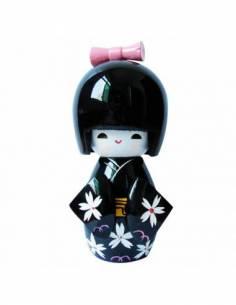 Kokeshi Poupée Japonaise Kimono En bois Traditionnel face