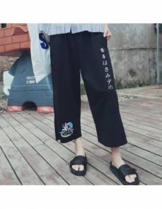 Pantalon japonais hiragana japonais Baggy profil terrasse