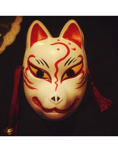 Masque de chat Japonais Rouge