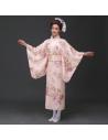 Costume traditionnel Kimono Yukata rose clair