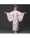 Costume traditionnel Kimono Yukata rouge