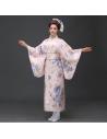Costume traditionnel Kimono Yukata bleu
