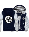 Veste bicolore symboles animés Dragon Ball Z