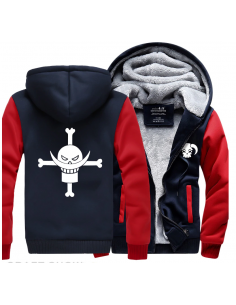Veste bicolore symboles animés One piece