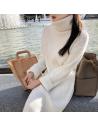Robe longue col roulé blanche