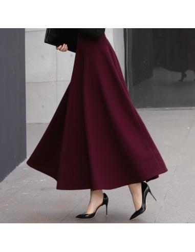 Jupe longue taille haute