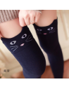 Chaussettes hautes Kawaii motifs animaux