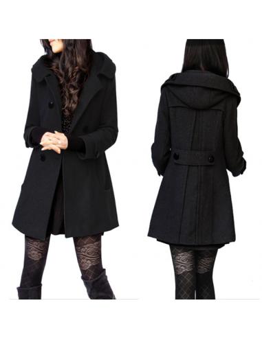 Manteau épais encapuchonné
